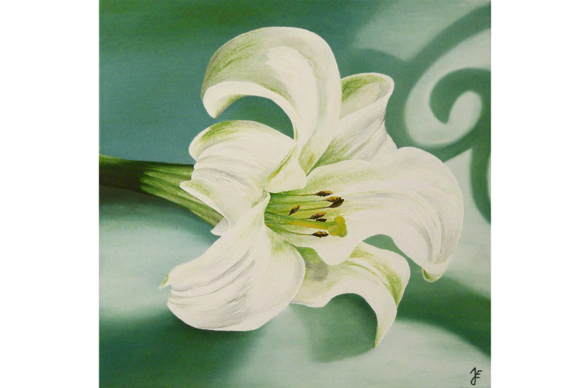 Juliane Jeske - Oilpainting - Flower of Purity